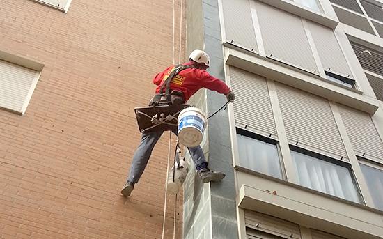 rehabilitación de fachada en Alcobendas