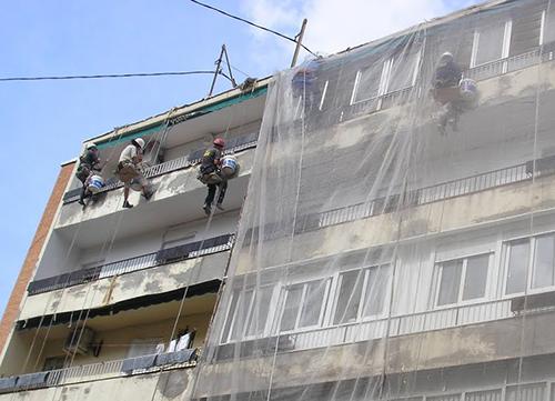 restauración de una fachada